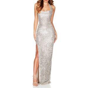 Nookie silver glitter gown